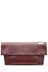 Victoria Beckham Tallulah Leather Clutch Red
