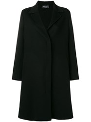 Salvatore Ferragamo Classic Midi Coat Black