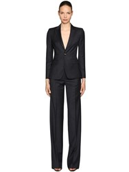 Dsquared Pinstriped Virgin Wool Suit Navy