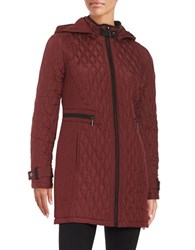 Weatherproof Quilted Zip Front Jacket Mulberry