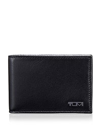 Tumi Rfid Delta Slim Single Bi Fold Wallet Black
