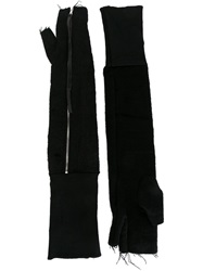 A Tentative Atelier Long Fingerless Gloves Black