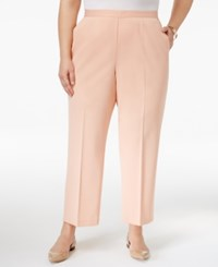 Alfred Dunner Plus Size Pull On Pants Peach