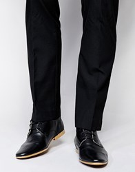 Asos Derby Shoes In Leather Black