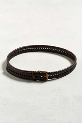 Urban Outfitters Uo Woven Leather Belt S M