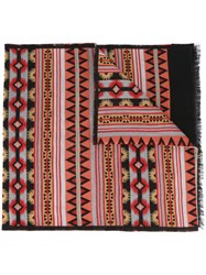 Valentino Tribal Print Scarf Multicolour
