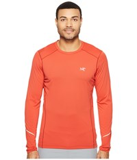 Arc'teryx Motus Crew Long Sleeve Cardinal Men's Clothing Red