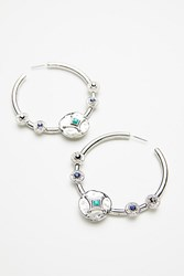 Free People Medallion Rays Hoops By