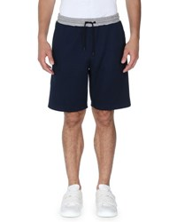 Fendi Forever Striped Sweat Shorts Blue Gray