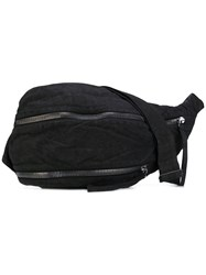Barbara I Gongini Waist Bag Unisex Cotton Lamb Skin One Size Black