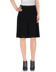 Hache Knee Length Skirts Black