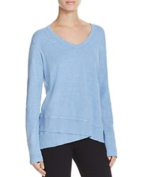 Wilt Slouchy V Neck Tee Dirty Blue