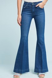 Anthropologie James Jeans Shaybel Mid Rise Flare Petite Jeans Denim Dark