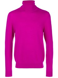 Chalayan Split Roll Neck Jumper Pink And Purple