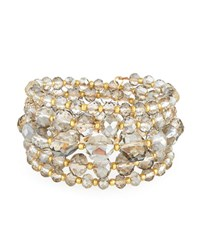 Emily And Ashley Beaded Crystal Wire Wrap Bracelet Grey