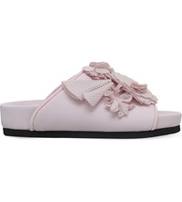 Suecomma Bonnie Flower Detail Slide Sandals Pale Pink