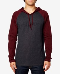 Fox Men's Graphic Print Pullover Hoodie Heatherr Burgundy
