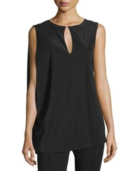 Cnc Costume National Sleeveless Draped Top Black
