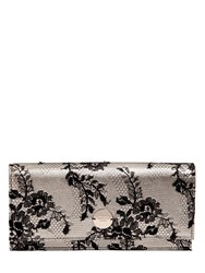 Jimmy Choo Fie Lace And Metallic Leather Clutch