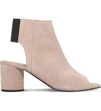 Kg By Kurt Geiger Raw Suede Heeled Sandals Taupe