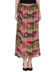 Love Moschino Long Skirts Military Green