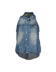 Meltin Pot Denim Denim Shirts Women Blue