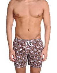Barba Swimwear Swimming Trunks Men Dark Brown