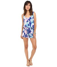 Lilly Pulitzer Rina Romper Blue Going Coastal Women's Jumpsuit And Rompers One Piece Multi