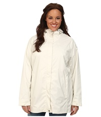 Columbia Plus Size Splash A Little Rain Jacket Sea Salt Flint Grey Print Women's Coat White