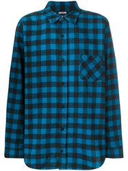 Adaptation Checked Shirt Cotton Blue