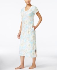 Miss Elaine Floral Print Nightgown Yellow Botanical Floral
