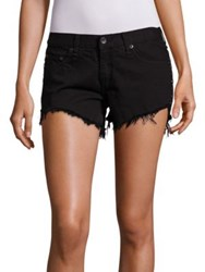 Rag And Bone Studded Cut Off Denim Shorts Studded Black