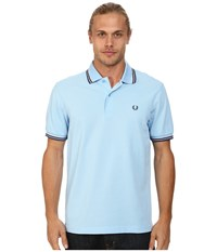 fred perry twin tipped polo sky blue port indigo men 39 s short sleeve. Black Bedroom Furniture Sets. Home Design Ideas