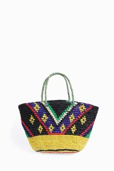 Sensi Studio Tribal Oval Base Maxi Tote Yellow