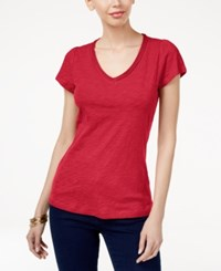 Inc International Concepts Cotton V Neck T Shirt Only At Macy's Real Red