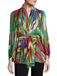 Etro Ikat Printed Blouse Green