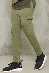 Forever 21 Drawstring Cargo Sweatpants Olive