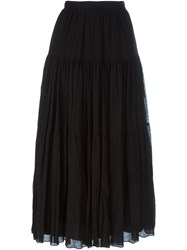 Saint Laurent High Waist Maxi Skirt Black