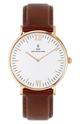 Kapten And Son Campus Leather Strap Watch 40Mm