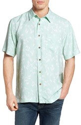 Quiksilver Men's Waterman Collection Skinny Palms Print Sport Shirt Lichen