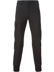 Neil Barrett Cuffed Cargo Trousers Black