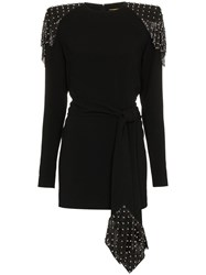 Saint Laurent Studded Chainmail Dress Black
