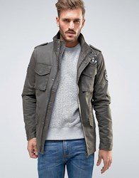 Only And Sons Military Jacket With Badges Olive Night Green