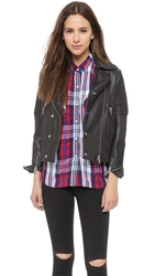Just Female Hon Leather Jacket Black