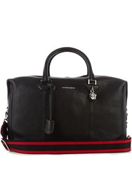 Alexander Mcqueen Grained Leather Holdall Black