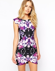 Ginger Fizz Mysterious Girl Dress In Mirror Floral Print Blackmulti