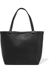 The Row Park Small Textured Leather Tote Black