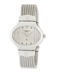 Charriol Darling Stainless Steel Micro Cable Bracelet Watch Women's