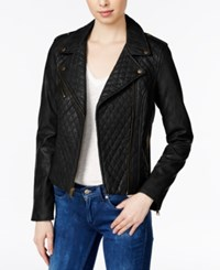 Levi's Quilted Faux Leather Moto Jacket Black