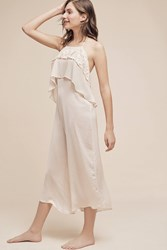 Eloise Semillon Ruffled Jumpsuit Cream
